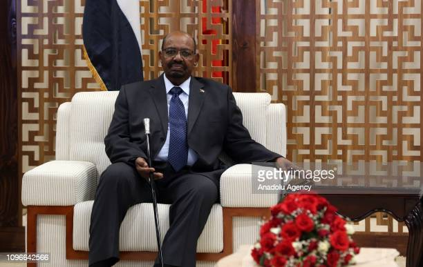 Sudanese President Omar Al-Bashir arrives at the Addis Ababa Bole International Airport to attend the 32nd African Union Leaders' Summit in Addis...