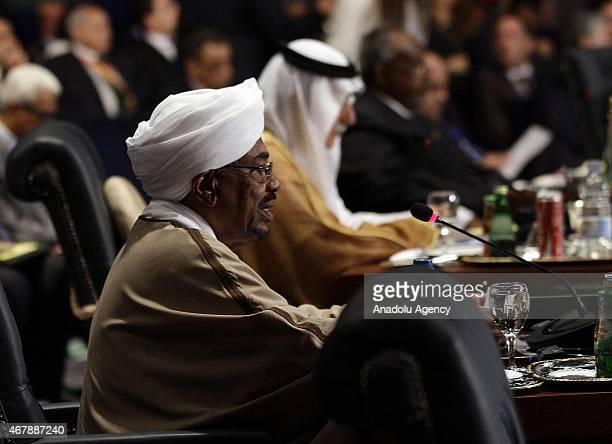 Sudanese President Omar al-Bashir attends the 26th Arab Summit in Sharm al-Sheikh, Egypt March 28, 2015. 26th Arab League Summit takes place from 28...