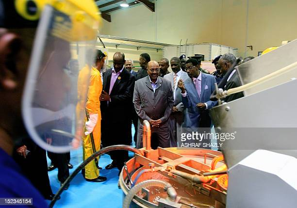 Sudanese President Omar alBashir attends to the inauguration of a gold refinery in Khartoum on September 19 2012 Since inflation has soared and the...
