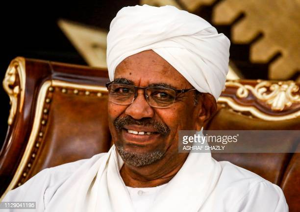 Sudanese President Omar alBashir chairs a meeting of leaders of some political parties in the capital Khartoum on March 7 2019 The meeting discussed...