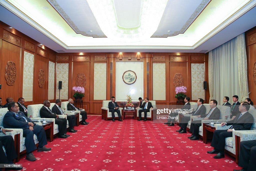 Sultan President Meets Chinese Premier Li Keqiang : News Photo