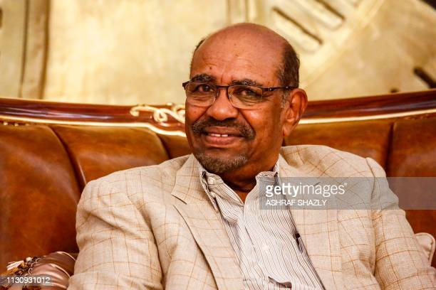 Sudanese President Omar alBashir receives the visiting Russian deputy foreign minister in the capital Khartoum on March 16 2019
