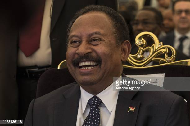 Sudanese Prime Minister Abdalla Hamdok and UN Deputy SecretaryGeneral Amina Mohammed attend a programme within the October 24 United Nations Day as...