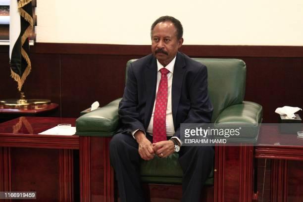 Sudanese Prime Minister Abdalla Hamdok receives the Egyptian foreign minsiter in the Sudanese capital Khartoum on September 9 2019 Egyptian Foreign...