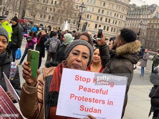 Sudanese protest againt Omar alBashir In London UK on 19 January 2019 Omar alBashir exploited Sudans ethnic division for decades Now Sudan is united...