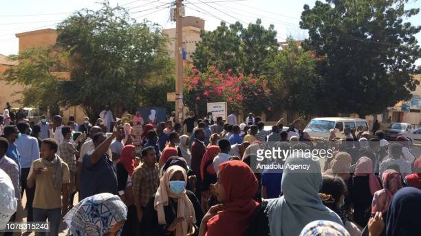 Sudanese protesters attend an antigovernment demonstration in the capital Khartoum on January 6 2018