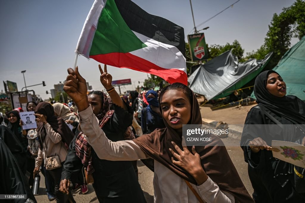 SUDAN-POLITICS-UNREST-PROTEST : News Photo