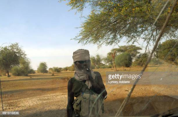 Sudanese rebels with the NRF hang out in Bahai Chad a few kilometers from the Darfur border where dozens of rebels come to relax repair their trucks...