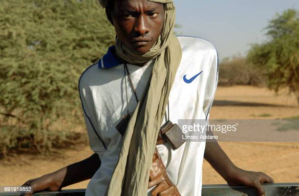 Sudanese rebels with the NRF wake up at dawn near Kariari somewhere between Chad and the Darfur border where dozens of rebels come to relax repair...