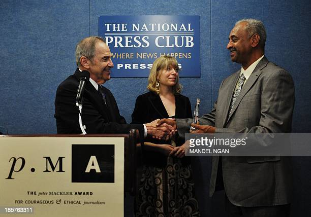 Sudanese reporter editor columnist and journalism teacher Faisal Mohamed Salih receives the 2013 Peter Mackler Award for Courageous and Ethical...