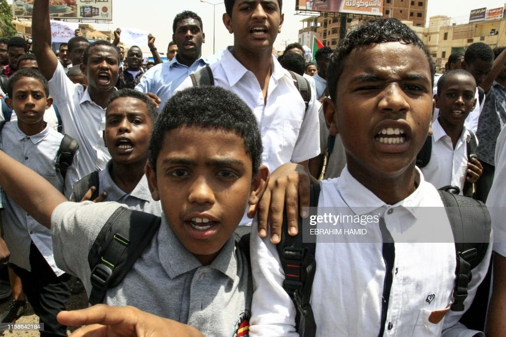 SUDAN-UNREST-DEMO-STUDENTS : Nachrichtenfoto