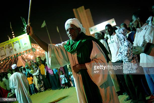 Sudanese Sufis dance and celebrate during a festival commemorating the birth of Islam's Prophet Mohammed known in Arabic as Mawlid alNabawi at the...