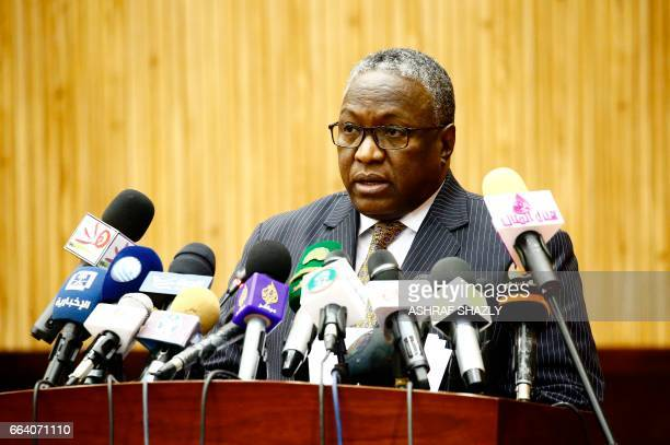 Sudanese vice president Hassabo Mohamed Abdel Rahman speaks during a conference on security challenges across Africa on April 3 in the capital...