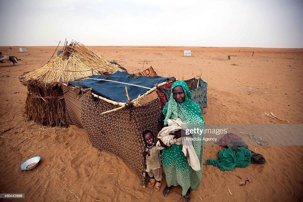 Zam Zam refugee camp in Darfur : News Photo