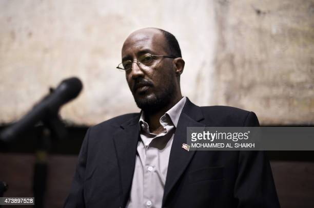 Sudanese writer and journalist Hammour Ziada speaks about his second novel 'The Longing of the Dervish' at the Shaikh Ebrahim bin Mohammed AlKhalifa...