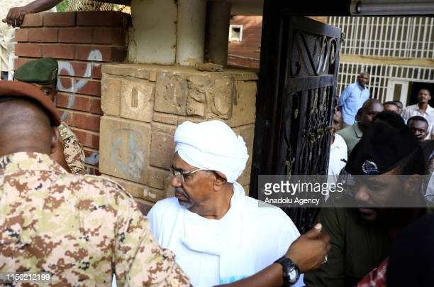 Sudans ousted president Omar AlBashir is seen appearing before prosecutors over charges against him in Khartoum Sudan on June 16 2019