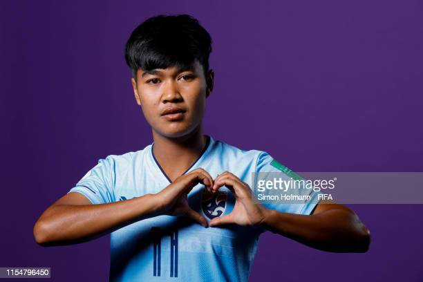 Sudarat Chuchuen of Thailand poses for a portrait during the official FIFA Women's World Cup 2019 portrait session at Grand Hotel Continental on June...