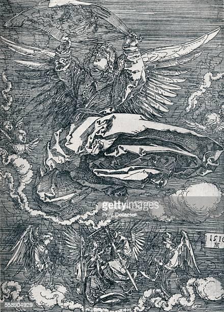 'Sudarium Displayed by an Angel' 1516 From Durer Des Meisters Gemalde Kupferstiche und Holzschnitte in 471 Abbildungen [Stuttgart und Leipzig Deutsch...