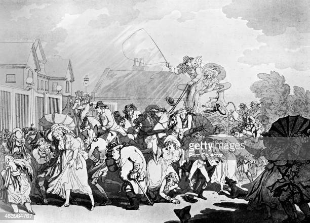 'A Sudden Squall in Hyde Park' c1791 Illustration from Social Caricature in the Eighteenth Century With over two hundred illustrations by George...