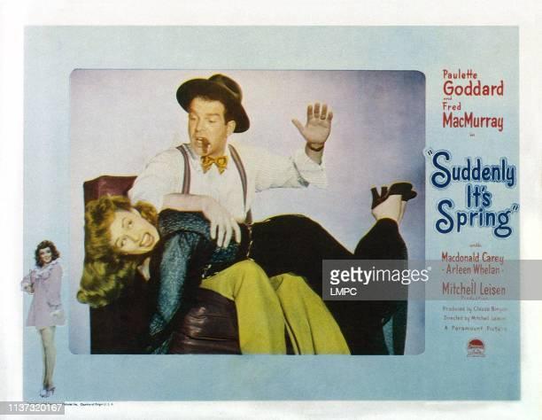 Suddenly It's Spring US lobbycard Paulette Goddard Fred MacMurray 1947