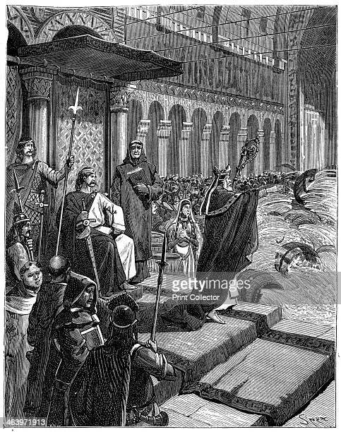'Suddenly the rings of the barrels shattered according to the pagan rites' 18821884 A print from La France et les Français à Travers les Siècles...
