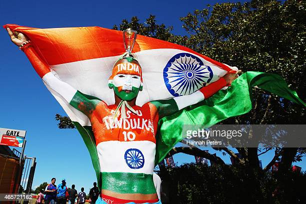 Sudhir Gautam attends the 2015 ICC Cricket World Cup match between Ireland and India at Seddon Park on March 10 2015 in Hamilton New Zealand