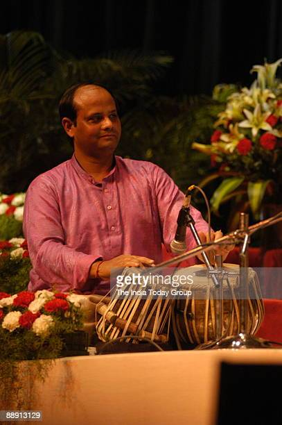 Sudhir Pandey Tabla Player performing in New Delhi India