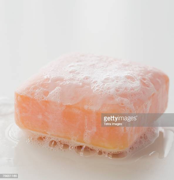 Sudsy bar of soap