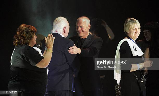 Sue Adams Gary Brooker David Gilmour and Jane Garnier attend Douglas Adams The Party celebrating what would have been the author's 60th birthday at...