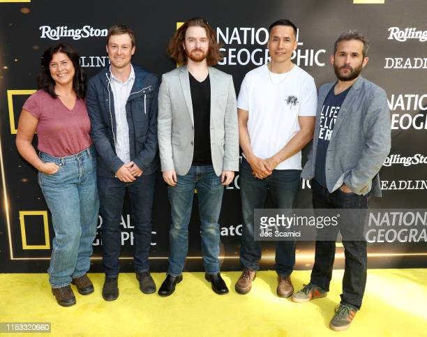 Sue Aikens Michael Cheeseman Patrick Fox Ricko DeWilde and Joseph Litzinger attend National Geographic's Contenders Showcase at The Greek Theatre a...