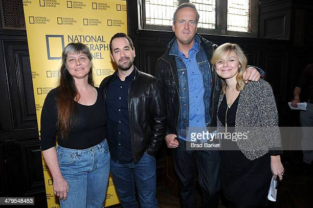 Sue Aikens of Life Below Zero Biography and Tim Shaw Host of None of the Above attend the National Geographic Channel Nat Geo WILD 20142015 Upfront...