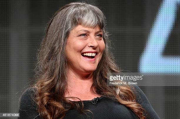 Sue Aikens speaks onstage at the Life Below Zero panel during the National Geographic Channels portion of the 2014 Summer Television Critics...
