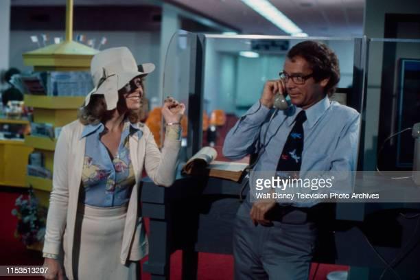 Sue Ane Langdon Dean Jones appearing in the ABC tv series 'Good Heavens' episode 'Coffee Tea or Gloria'