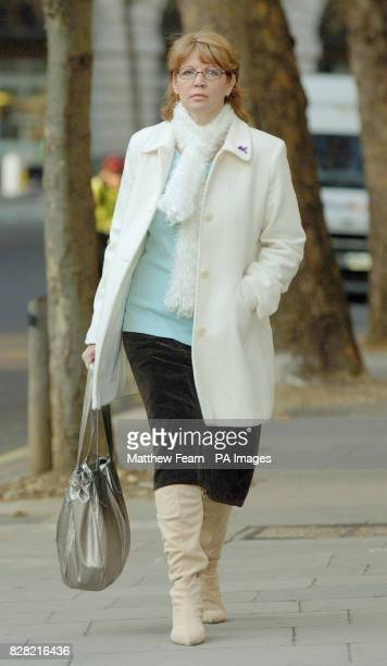 Sue Axon of Baguley Manchester arrives at the High Court in London Tuesday 8th November 2005 Mrs Bagueley is challenging guidelines which allow girls...