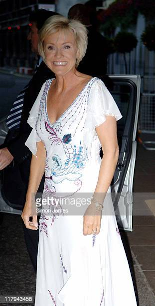 Sue Barker during Wimbledon Champions Dinner - July 9, 2006 at The Savoy in London, Great Britain.