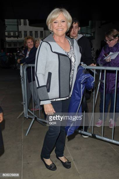 Sue Barker leaving the BBC studios after the One Show on June 30 2017 in London England