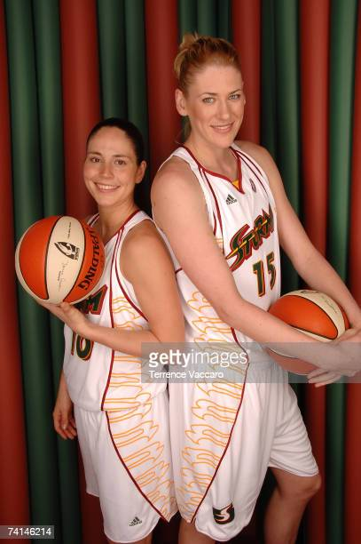 Sue Bird and Lauren Jackson of the Seattle Storm pose for a portrait during Storm Media Day on May 14 2007 at the Furtado Center in Seattle...