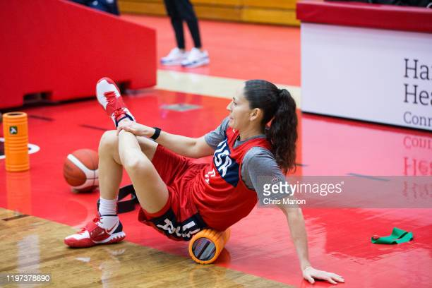 Sue Bird of the United States Women's basketball team practices on January 26 2020 at the University of Hartford's Chase Arena in West Hartford...