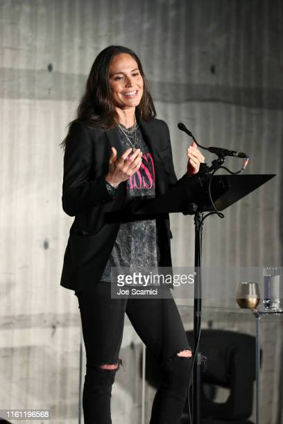 Sue Bird shares her story onstage at Courvoisier Cognac And UNINTERRUPTED Partner On FirstOfItsKind Live Storytelling Event And Content Series at...