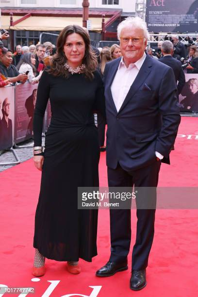 """Sue Birtwistle and Richard Eyre attend the UK Premiere of """"The Children Act"""" at The Curzon Mayfair on August 16, 2018 in London, England."""