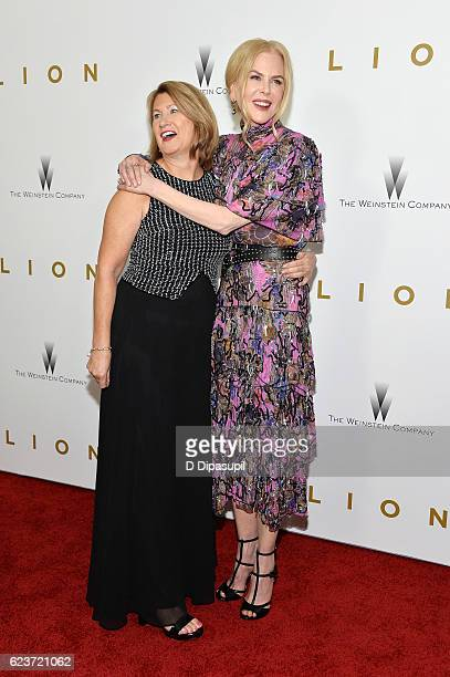 Sue Brierley and actress Nicole Kidman attend the 'Lion' premiere at Museum of Modern Art on November 16 2016 in New York City
