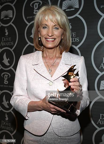 Sue C. Smith poses in the press room at the 40th Annual GMA Dove Awards held at the Grand Ole Opry House on April 23, 2009 in Nashville, Tennessee.