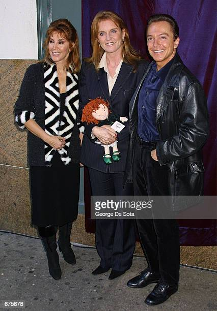 Sue Cassidy The Duchess of York Sarah Ferguson and singer David Cassidy attend an event to unveil the original Santa suit worn by Edmund Gwenn in the...