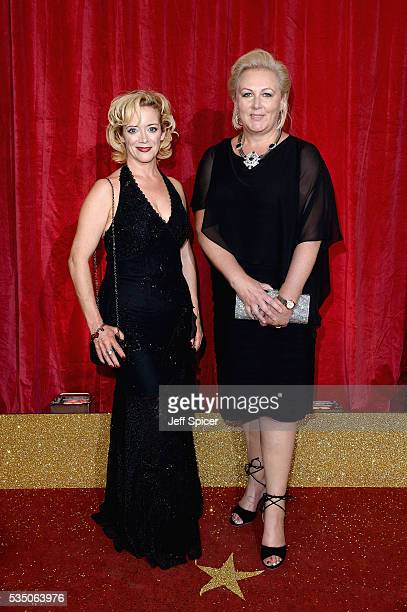 Sue Cleaver and guest attend the British Soap Awards 2016 at Hackney Empire on May 28 2016 in London England