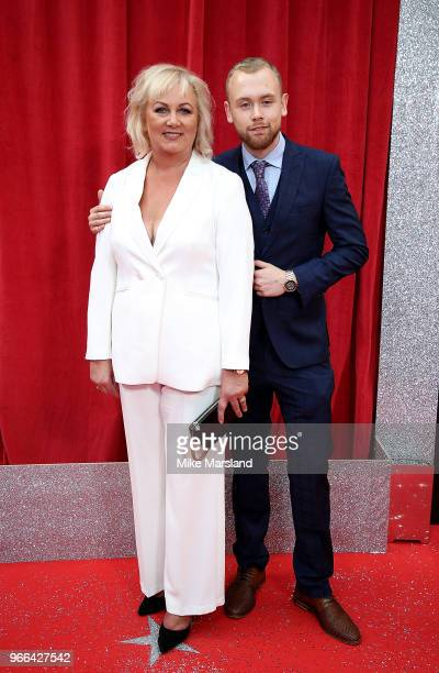 Sue Cleaver and son Elliot Quinn attend the British Soap Awards 2018 at Hackney Empire on June 2 2018 in London England
