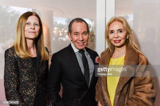 Sue Devine Mark Mandell and Emilia Mandell attend Of Love And Rage Premiere Dinner Hosted By Elizabeth Segerstrom at Leatherby's Cafe Rouge on March...