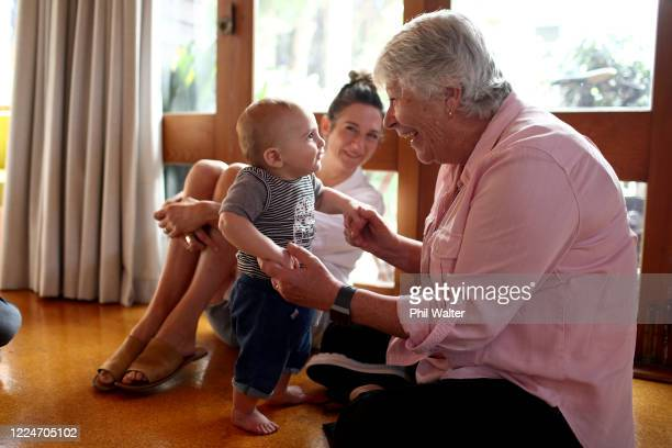 Sue Eng is reunited with her 8 mth old grandson Soren Walter after not being able to see him for two months due to the COVID Lockdown on May 14, 2020...