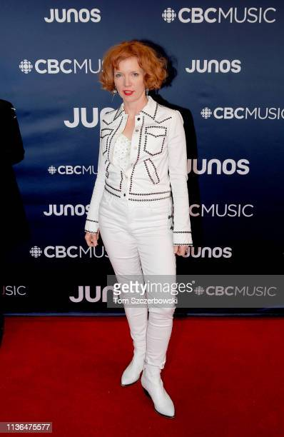 Sue Foley attends the 2019 Juno Awards Arrivals at Budweiser Gardens on March 17 2019 in London Canada