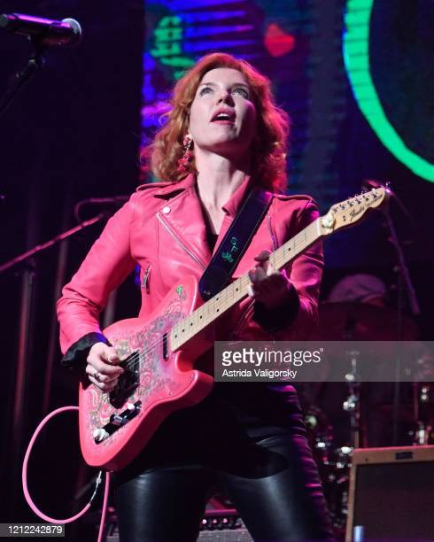 Sue Foley performs on stage during the Fourth Annual LOVE ROCKS NYC benefit concert for God's Love We Deliver at Beacon Theatre on March 12 2020 in...