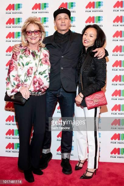 Sue Gudinski Mark and Jepp Lizotte arrive at Working Class Boy World Premiere on August 16 2018 in Melbourne Australia